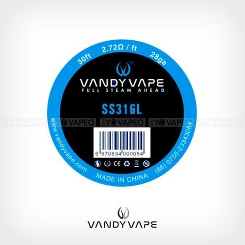 Vandyvape-Bobina-SS316L-28AWG-Yonofumo-Yovapeo