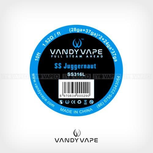Vandyvape-Bobina-SS316L-Juggernaut-(28AWG+37AWG)-x2+24AWGx37AWG-Yonofumo-Yovapeo