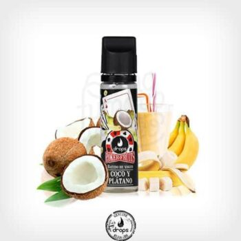 Poker-Fruits-Batido-de-Coco-Plátano-(Booster-50ml)---Drops-yonofumoyovapeo